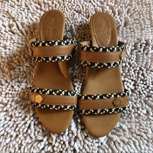 Eric Javits Brown Leather Sandals